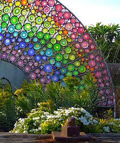 Mosaic Art~'Glass Rainbow In My Garden.
