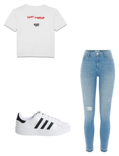 """Untitled #163"" by taukaila on Polyvore featuring Yves Saint Laurent, River Island and adidas Originals"