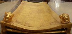 King Tut bed at the Egyptian Museum, Cairo, Egypt