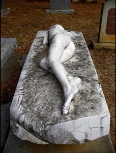 When he died, his wife commissioned this sculpture, as an expression of her love for him, Australia, Mt Macedon Cemetery in Victoria