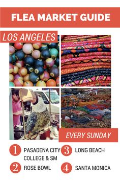 This guide includes schedules, tips, tricks and insider info about all of the best flea markets in Los Angeles