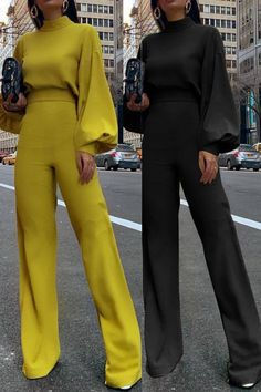 Designer jumpsuits for Women Classy Outfits, Chic Outfits, Look Blazer, Looks Plus Size, Mode Hijab, Work Attire, Jumpsuits For Women, Fashion Jumpsuits, African Fashion