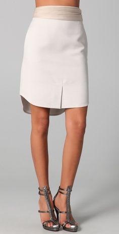 3.1 Phillip Lim Shirt Hem Skirt with Cummerbund - StyleSays