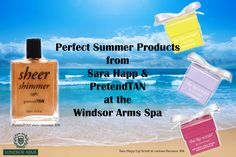 Come check out new products  from Sara Happ and PretendTAN at the Windsor Arms Spa.