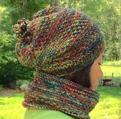 Ravelry: Autumn Glow Hat & Cowl pattern by Lisa McFetridge Linen Stitch, Arm Knitting, Knitting Ideas, Knitting Projects, Crochet Yarn, Crotchet Stitches, Crochet Poncho, Christmas Knitting Patterns, Red Heart Yarn