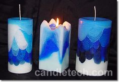 How to make draped layer candles. This do-it-yourself candle making project leads to a colorful result.