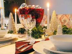 christmas dinner table decorations photo - Google Search