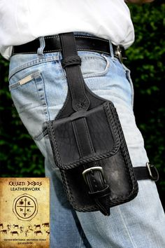 Leather holster.