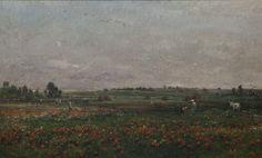 Charles François Daubigny, Fields in the month of June, 1874, Herbert F. Johnson Museum of Art, Cornell University, Ithaca, New York, gift of Louis V. Keeler, Class of 1911, and Mrs Keeler