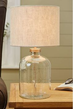 Buy Brompton Table Lamp from the Next UK online shop - Modern Touch Table Lamps, Touch Lamp, Bedside Table Lamps, Light Table, Glass Table Lamps, Bed Lamps, Glass Lamp Base, Table Lamps For Bedroom, Bedside Lamps Cream