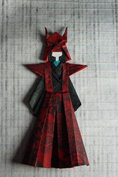 samurai washi ningyo- muñeca papel japones                                                                                                                                                                                 Más