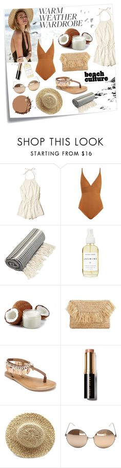 """Heatwave"" by paisleydpatch ❤ liked on Polyvore featuring Post-It, Hollister Co., Eres, A Weathered Penny, MANGO, Penny Loves Kenny, Bobbi Brown Cosmetics, Linda Farrow and Urban Decay"