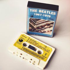 Now something completely different: The Beatles with their blue album on cassette. Found on a flea market in Barcelona.  #barcelona #bcn #beatles #music #album #blue #fleamarketfinds