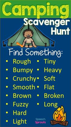 Camping Theme Scavenger Hunt