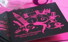 Creation Fairepart Londres London So British Mariage creation sur mesure   L'Atelier d'Elsa www.latelierdelsa.com