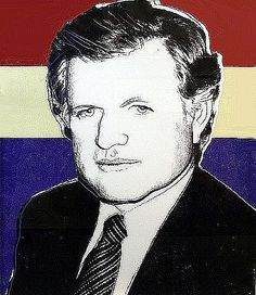 Andy Warhol: Edward Kennedy🌸🦋🌻More Pins Like This At FOSTERGINGER @ Pinterest 🦋🌸🦋🌻