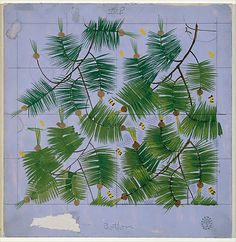 Pine Boughs and Bees, rockwell kent for lowenstein