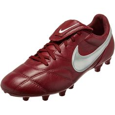 new concept b29ed 3b6a4 Nike Premier II FG – Team RedMetallic SilverTeam Red