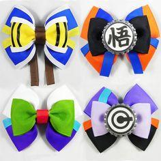 Dragon Ball Z Hair bows. DBZ is NOT just for guys I'm living proof of that! >XDDD