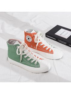 Visit the post for more. Mode Converse, Sneakers Mode, Converse Shoes, Sneakers Fashion, Platform Converse, High Top Converse, Colored Converse, Custom Converse, Aesthetic Shoes