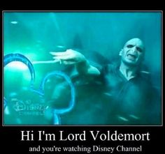 I'm Lord Voldemort from Harry Potter and the sorcerer's stone, and you are watching disney channel! Disney Channel, Memes Do Harry Potter, Harry Potter Fandom, Harry Potter Spells List, Harry Potter Imagines, Potter Facts, Memes Humor, Funny Memes, Hilarious