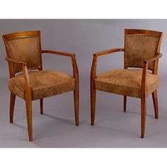 Pair of Armchairs by Andre Arbus | From a unique collection of antique and modern armchairs at http://www.1stdibs.com/furniture/seating/armchairs/