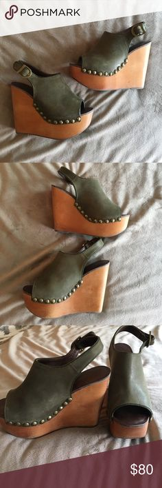 Jeffery Campbell wedges Wedges /platforms 5 inch heel  *gently worn* run small Jeffrey Campbell Shoes Platforms