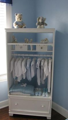 TV Armoir Turned Into Clothing Armoir By Adding Closet Hanging Rod. Photo: This Photo was uploaded by tinkerbelldiva72. Find other TV Armoir Turned Into...