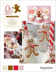Gingerbread Holiday Party Inspiration on the Tiny Prints blog today. #ontheblog