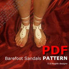 Barefoot Sandals Pattern White