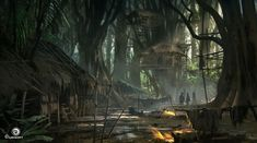 View an image titled 'Jungles Art' in our Assassin's Creed IV: Black Flag art gallery featuring official character designs, concept art, and promo pictures. Monkey Island, Landscape Concept, Fantasy Landscape, Environment Concept, Environment Design, Game Environment, Jungle Video, Assassins Creed Black Flag, Jungle Art