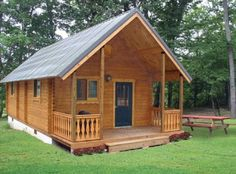 580 Sq. Ft. Heritage Log Cabin | Tiny House Pins