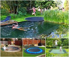 Sunken Trampoline- how cool is this???