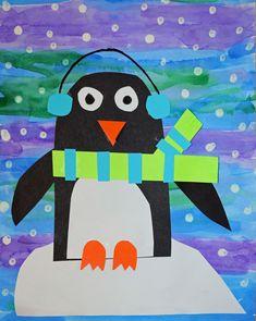 Smiling and Shining in Second Grade: Penguin Ideas and Freebies – Beste Winterbilder Winter Crafts For Toddlers, Winter Activities, Art Activities, Preschool Winter, Winter Art Projects, School Art Projects, Kindergarten Art, Preschool Crafts, First Grade Art