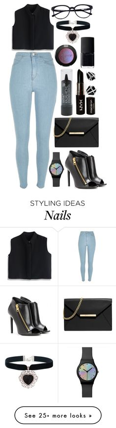 """""""'Cause I've Got a Jet Black Heart"""" by marymh on Polyvore featuring River Island, Chicwish, Tom Ford, Rock 'N Rose, MICHAEL Michael Kors, NYX, Boohoo, Topshop, NARS Cosmetics and David Yurman"""