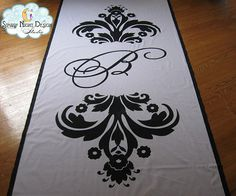 Aisle Runners, Custom Aisle Runners, with Monograms on Quality Fabric that Won't Rip or Tear on Etsy, $225.00