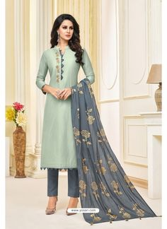Angroop Daina Vol 4 Masline Silk Digital Print With Embroidery Suits 063 Salwar Neck Designs, Churidar Designs, Neck Designs For Suits, Kurta Neck Design, Green Color Combination Dresses, Ladies Suit Design, Embroidery Suits Design, Dress Indian Style, Kurti Designs Party Wear