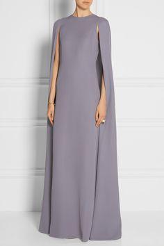 Valentino|Silk-cady cape gown|NET-A-PORTER.COM