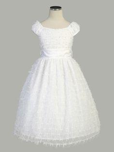 Parisian Ribbon Mesh Communion Dress