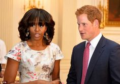 Alongside Michelle Obama (pictured with the prince in and Jill Biden, Harry will visit a facility to support wounded servicemen and women, while promoting his Invictus Games Prince Harry Photos, Prince Harry And Meghan, Michelle Obama, Obama Daughter, Missy Franklin, Presidente Obama, American First Ladies, American Women, American History