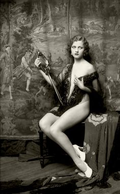 Anne Lee Patterson  Ziegfeld Follies Girl    The Ziegfeld Follies were a series of elaborate theatrical productions on Broadway in New York City from 1907 through 1931.  Inspired by the Folies Bergères of Paris, the Ziegfeld Follies were conceived and mounted by Florenz Ziegfeld    Photography by Alfred Cheney Johnston, the official photographer of the Zeigfeld Follies