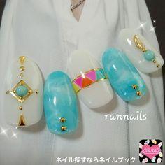 summer fes nail art