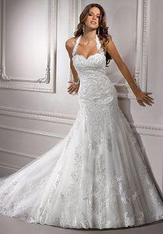 Elegant Natural Waist Tulle Sweetheart Long Chapel Train Wedding Dresses - Lunadress.co.uk