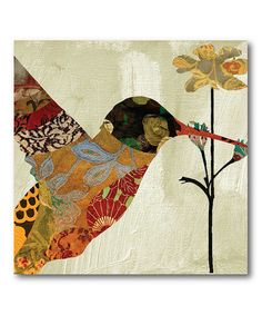 Take a look at this Patchwork Hummingbird I Canvas Wall Art by COURTSIDE MARKET on #zulily today!
