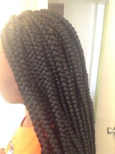 Big box braids Big Box Braids, Jumbo Box Braids, Black Hairstyles, Cool Hairstyles, Braid Styles For Girls, Body Wave, Don't Care, Knitted Hats, Drink
