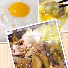 卵白が絡んで美味しいよ! - 37件のもぐもぐ - 鶏鍋(^O^) 玉子の白身をカクテルシェイカーで!! by kamo3