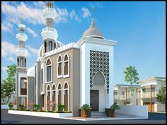 Hotel Design Architecture, Mosque, Gd, Exterior Design, Bungalow, Taj Mahal, Design Ideas, Houses, House Design