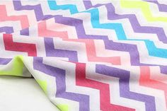 "Colorful Chevron Cotton Rib Knit Zig Zag - 55"" Wide - By the Yard on Etsy, $13.85"