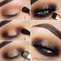 Shimmer Smokey Eyes Makeup Step By Step #makeuptutorial Do you have grey eyes? Find all makeup and image related facts here.  Learn how to pick eyeshadow for light, dark grey eyes. #greyeyes  #makeupgreyeyes #makeup #eyesmakeup #glaminati #lifestyle