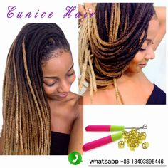 Two Tone Dreadlocks Extensions 20roots Faux Locs Crochet Hair